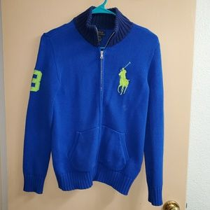 Boy's Polo Ralph Lauren Zip Up Sweater Medium